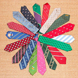 Exaples of customized ties by Bernart-Maine, Ltd.