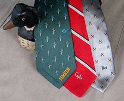 Custom desiged ties for your club or orgaization by Barnard-Maine, Ltd.
