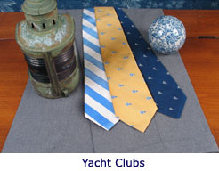 Customized ties for yatcht clubs by Barnard Maine, Ltd.