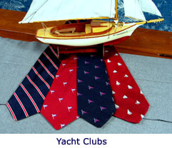 Custom ties for yatcht clubs by Barnard-Maine, Ltd.