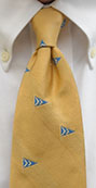 Custom logo tie by Barnard-Maine
