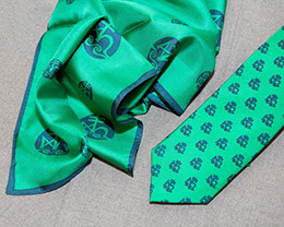 Custom Logo ties and pocket scarves by Barnard-Maine, Ltd.